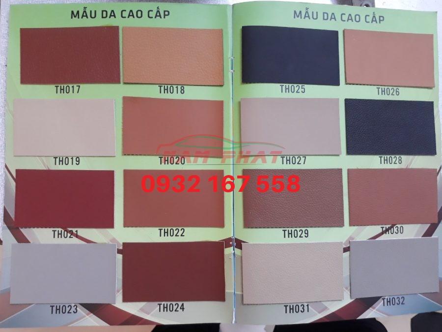 Các mẫu da với màu sắc đa dạng