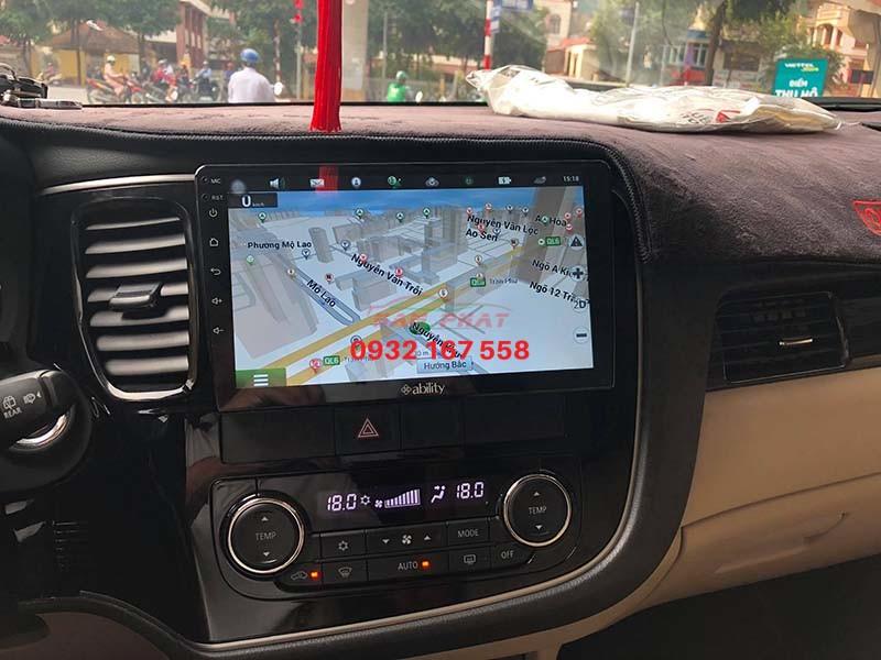 lắp màn hình Android cho Mitsubishi Outlander