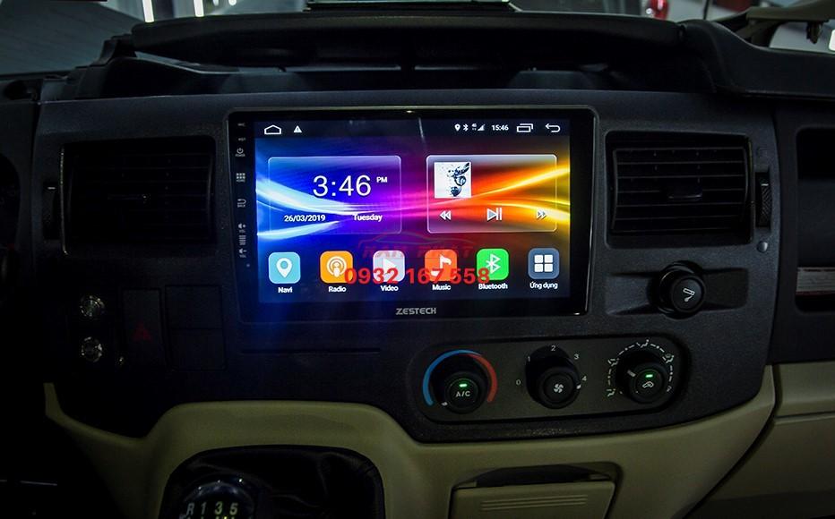 Lắp màn hình Android cho Ford Transit