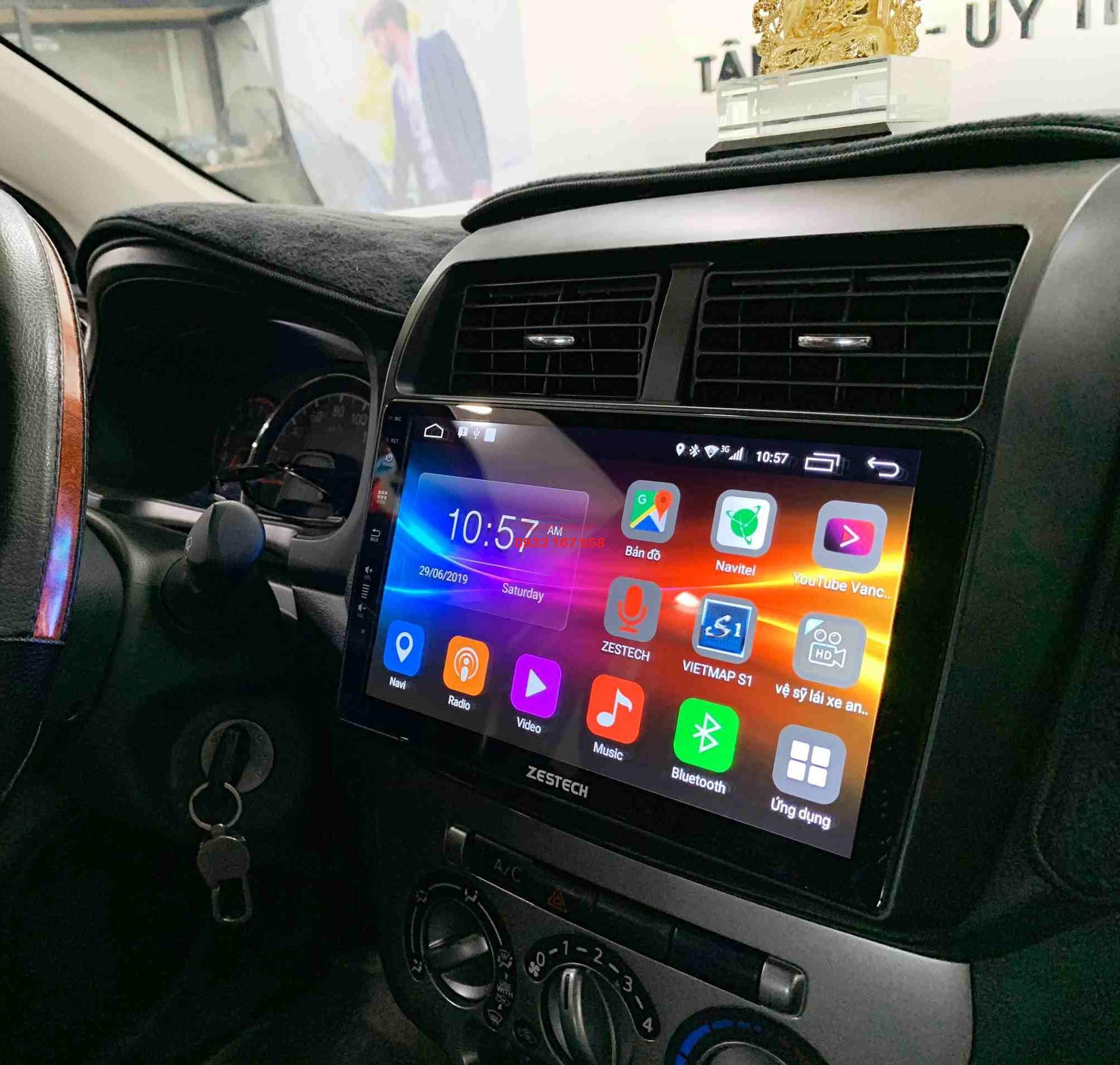Lắp màn hình Android cho Toyota Wigo