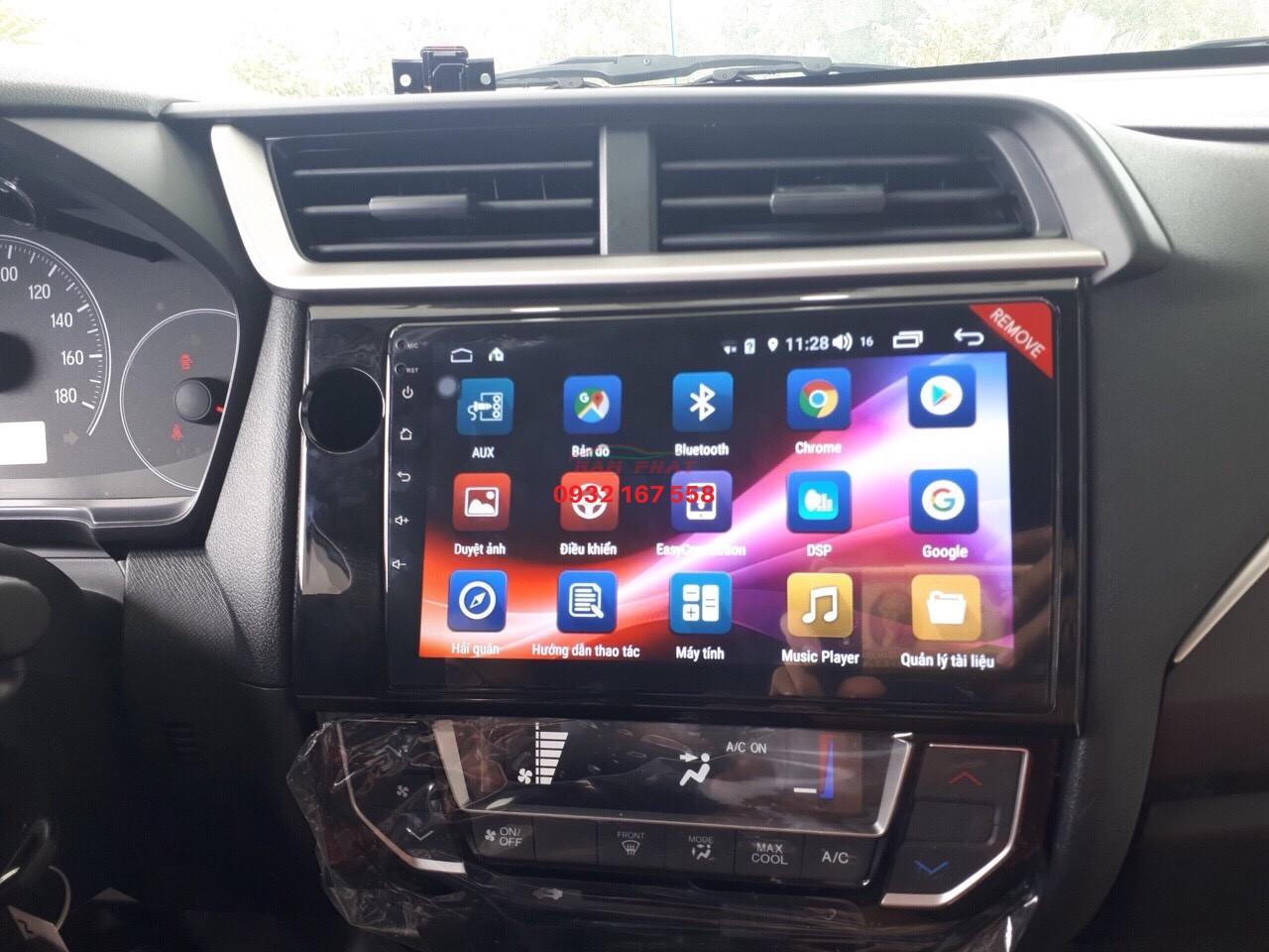 Lắp màn hình Android cho Honda Brio