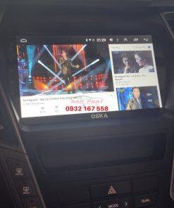 Lắp màn hình Android cho Hyundai Santafe