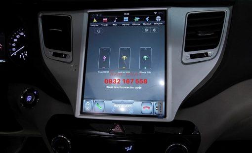 Lắp màn hình Tesla cho Hyundai Tucson