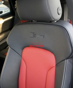 audi q7 s line 7 seat black leather with red inserts silver stitching 006 1000