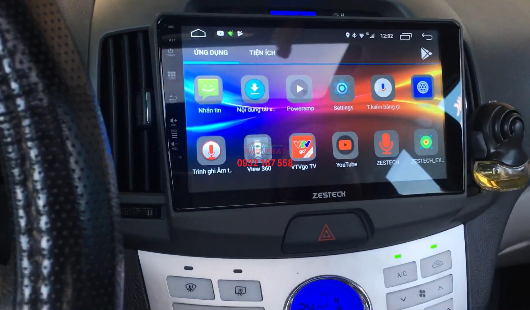 Lắp màn hình Android cho Hyundai Avante
