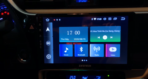 Lắp màn hình Android cho Toyota Altis