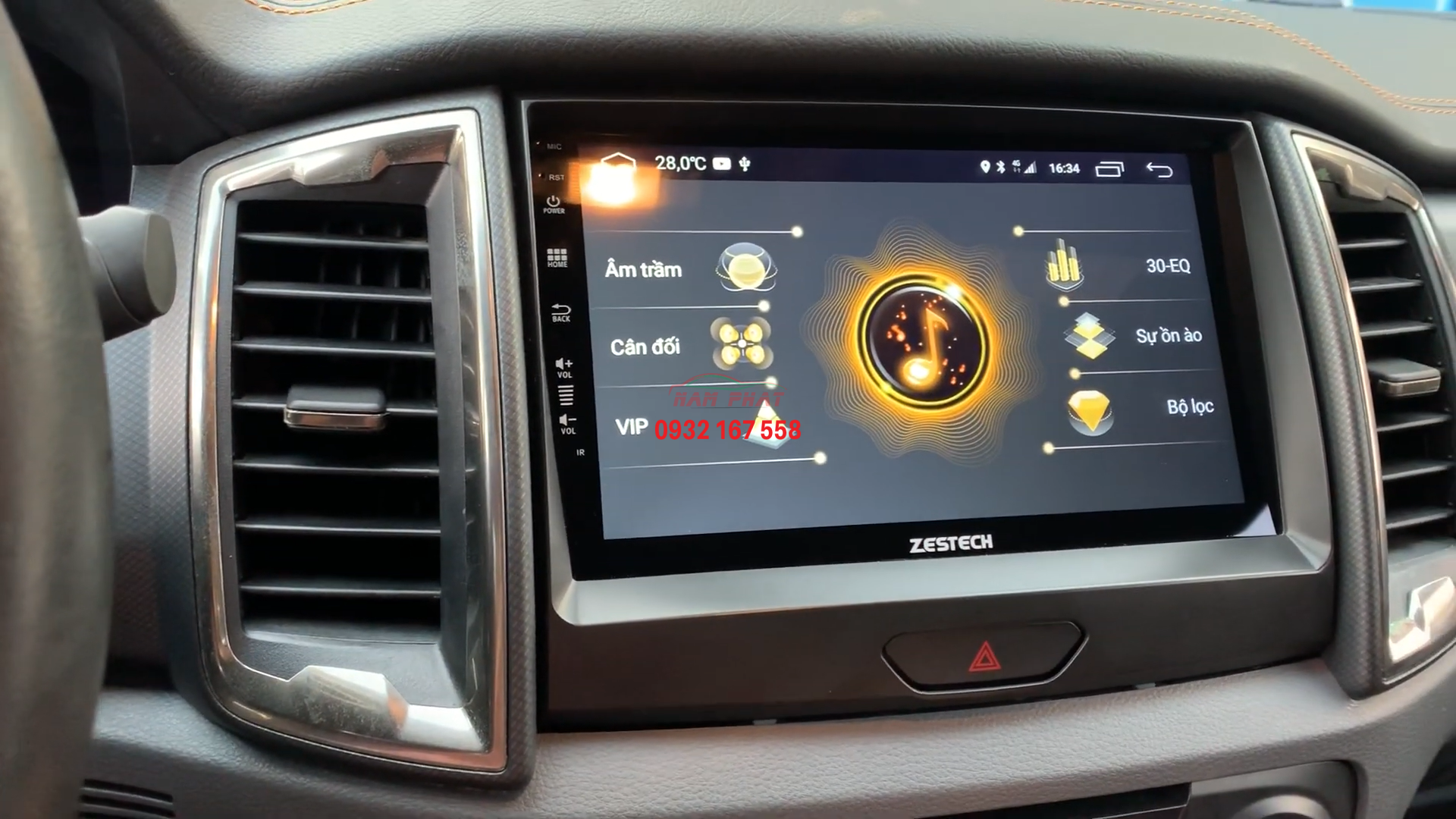 Màn hình Android cho Ford Ranger Wildtrak