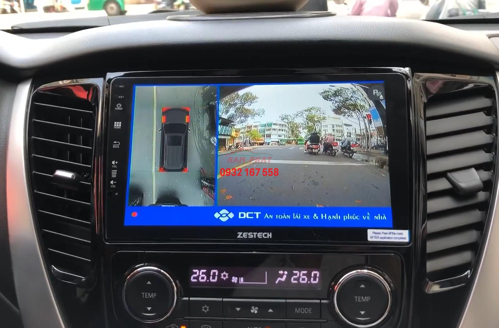 Màn hình Android cho Mitsubishi Pajero Sport