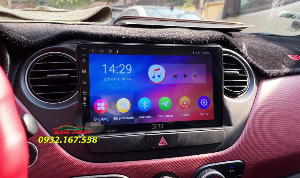 Màn hình Android Oled cho Hyundai Grand i10