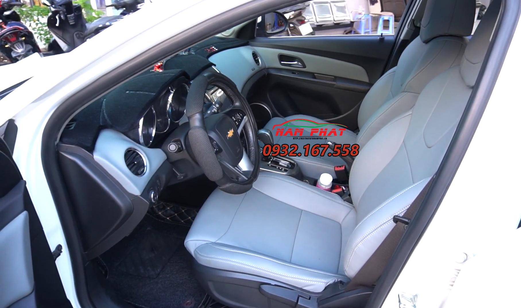 Thay ghế da xe cho ô tô: Bọc ghế da xe cho Chevrolet Cruze
