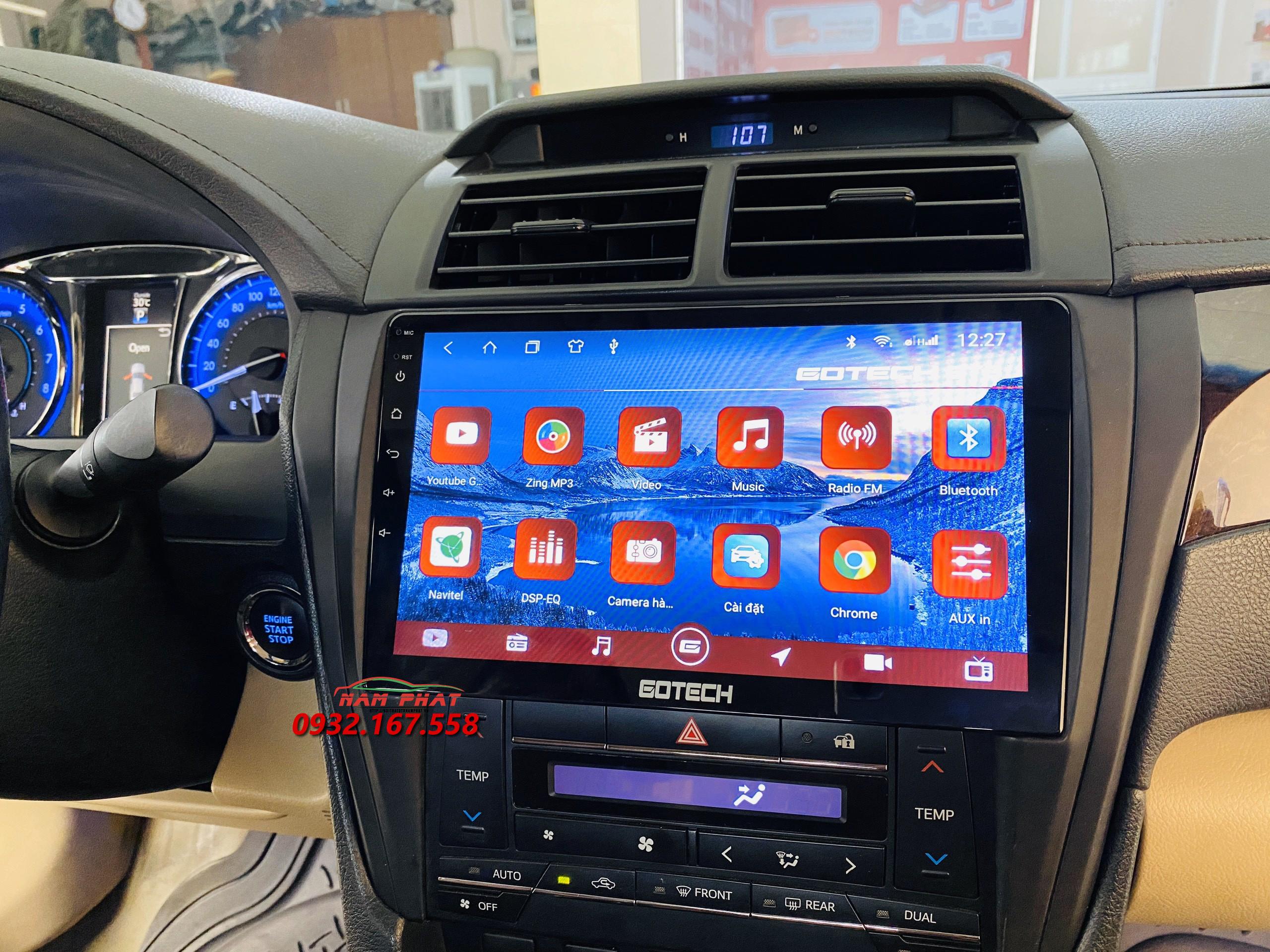 Màn hình Android Gotech cho Toyota Camry