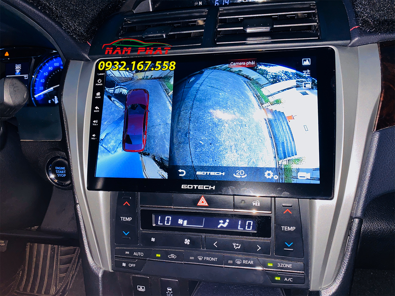 màn hình liền camera 360 độ