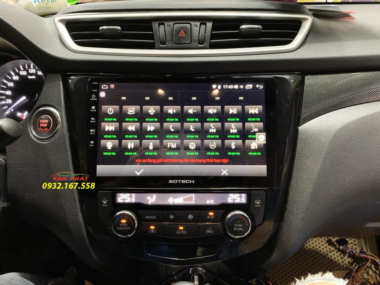 Màn hình Gotech cho xe Nissan X-Trail