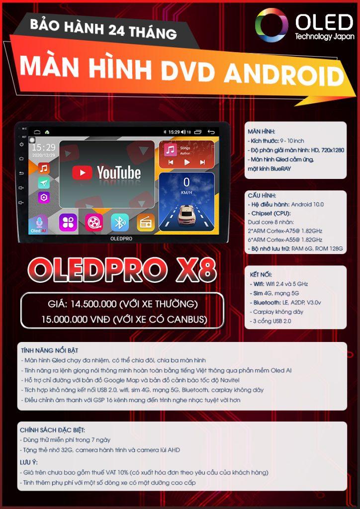 OLED PRO X8
