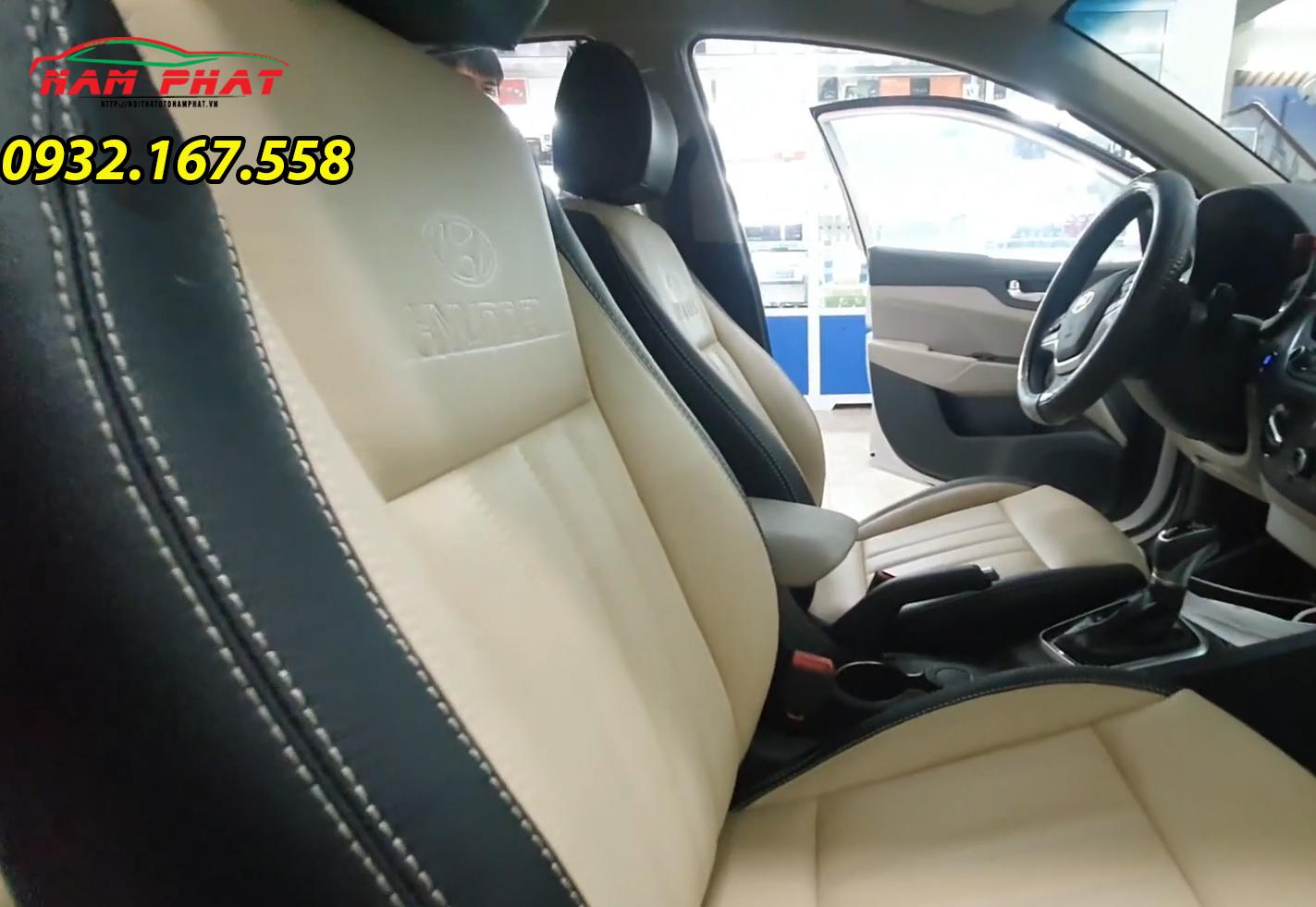 Thay ghế da Hyundai Accent