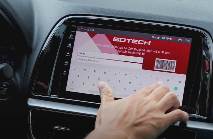Bảo hành điện tử trên màn hình thông minh Gotech