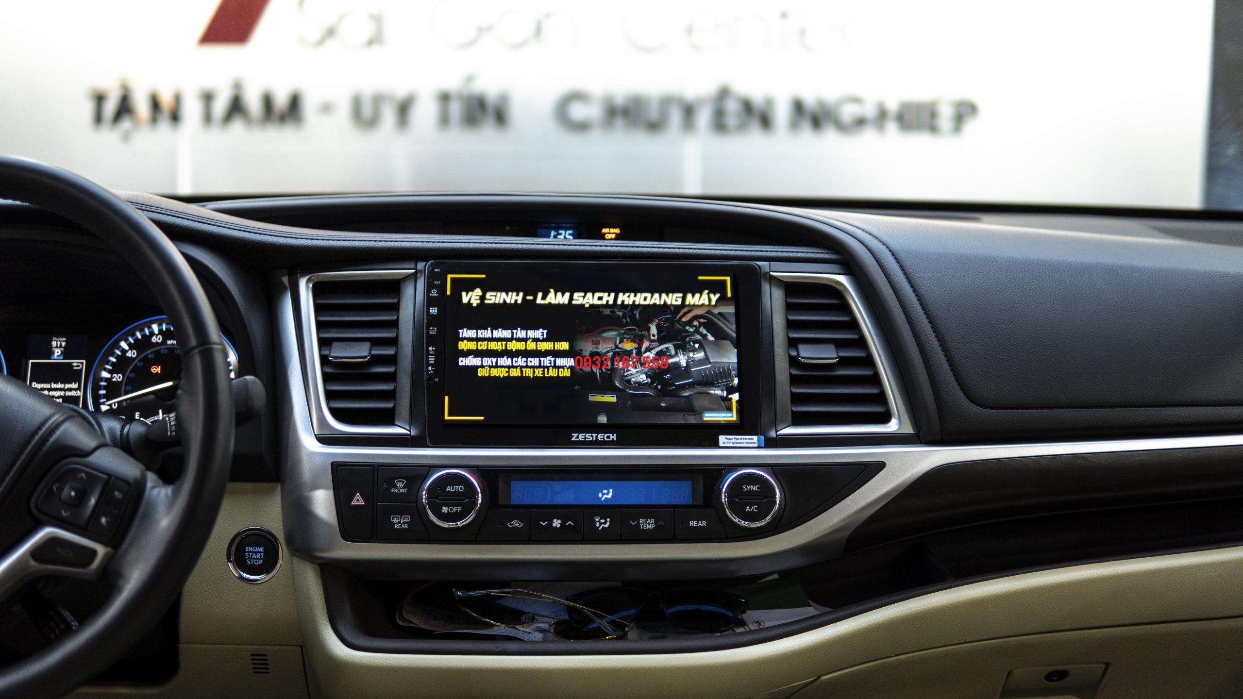 Màn hình DVD Android - Toyota Highlander