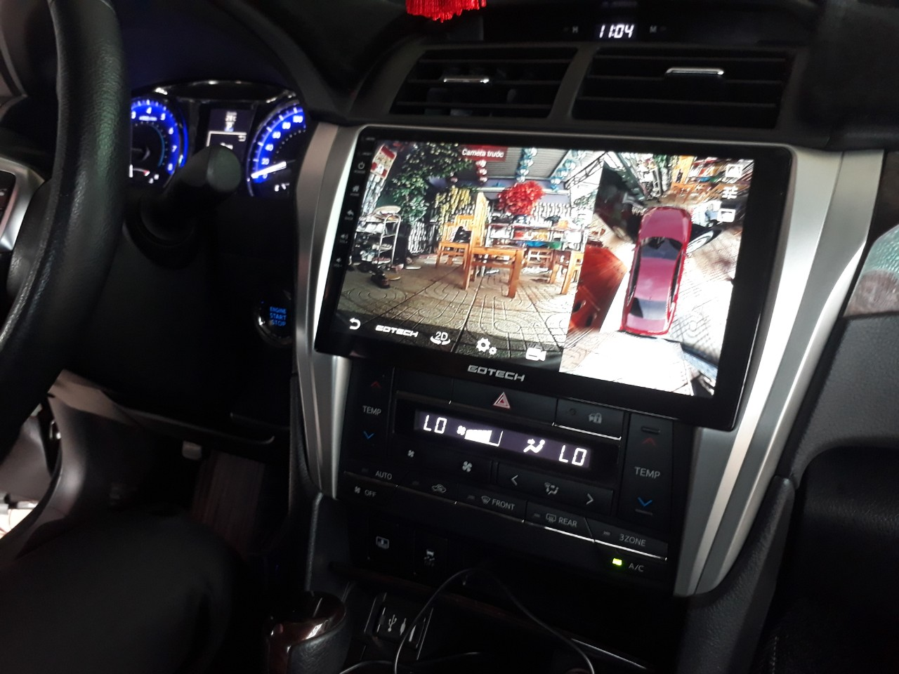 Man-hinh-android-gotech-gt360-Toyota-Camry