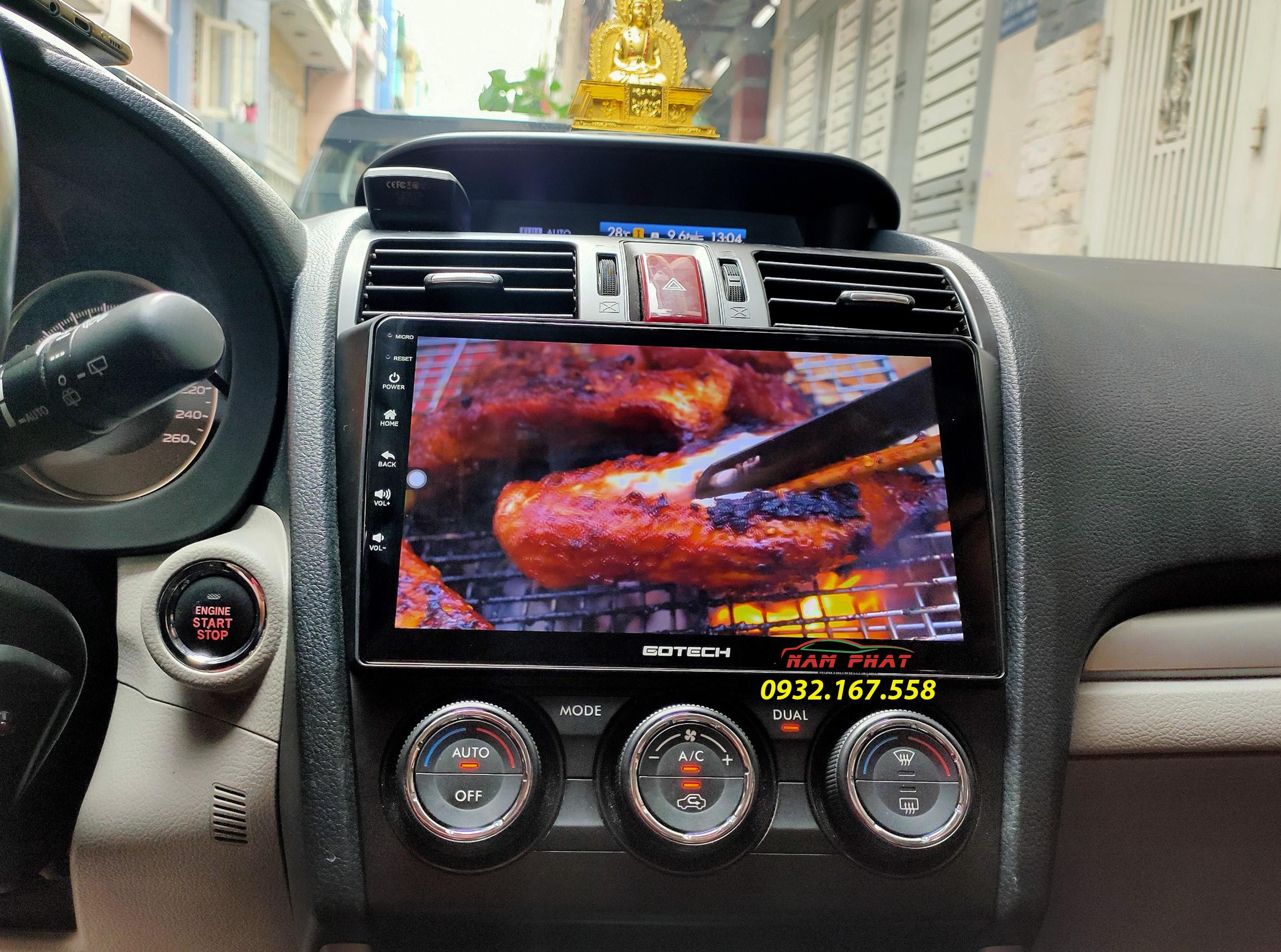 Màn hình Android Gotech GT8 Max trên Subaru Forester